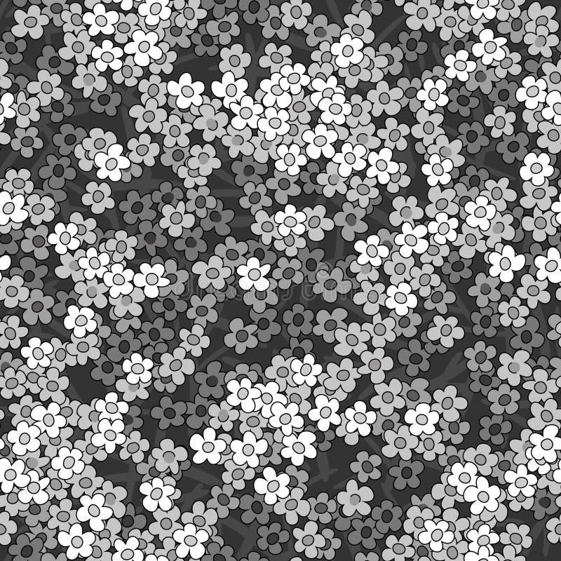 无缝的小的白花模式背景 向量例证