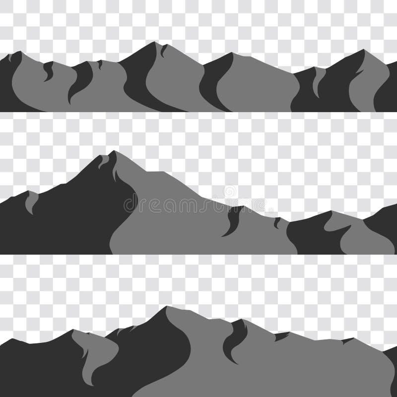 无缝的山收藏 免版税图库摄影