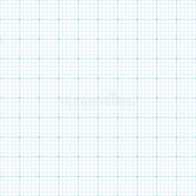 无缝的座标图纸 库存例证