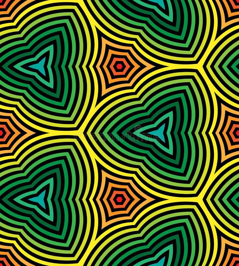 无缝的彩虹色的波浪条纹样式 几何抽象的背景 适用于纺织品,织品包装和网 向量例证