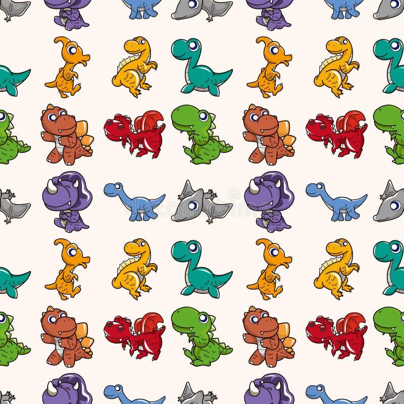 无缝的恐龙模式 向量例证