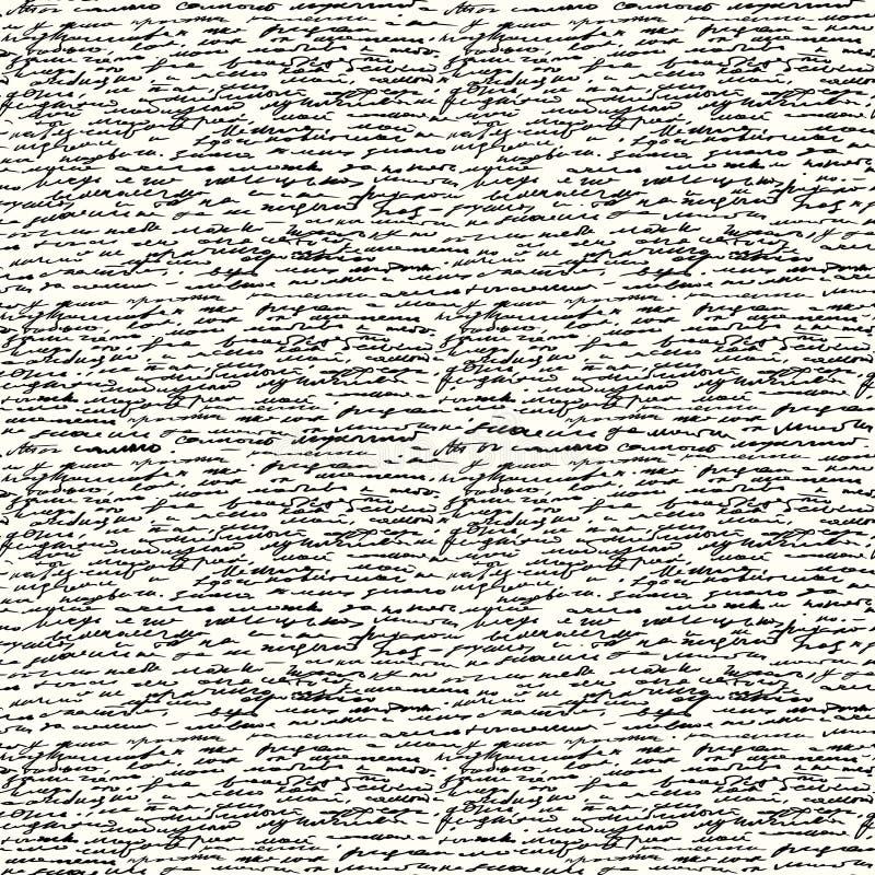 无缝的手写文本 皇族释放例证