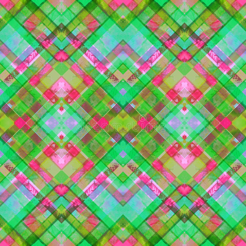 无缝的手工制造几何样式 向量例证
