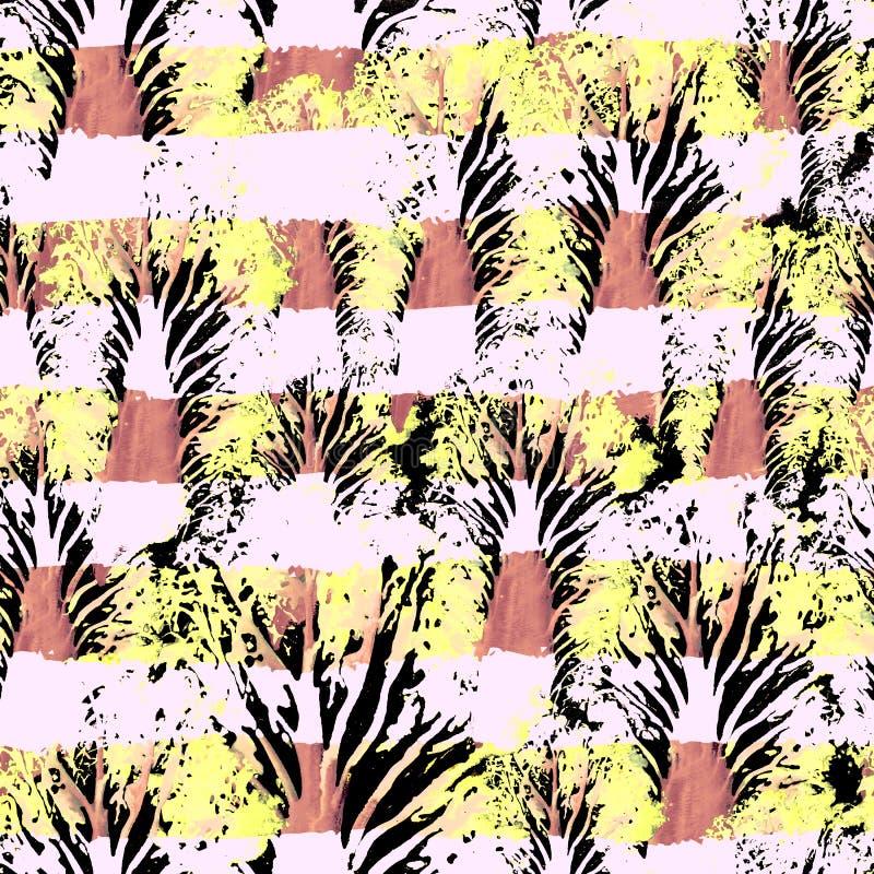 无缝的手拉的水彩样式 墙纸的,瓦片,纺织品,织品,包裹,包装,伪装印刷品明亮的设计 图库摄影