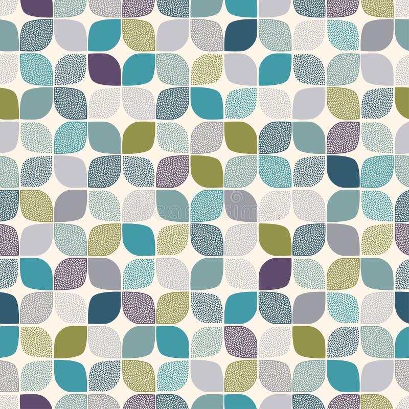 无缝的抽象光点图形 皇族释放例证