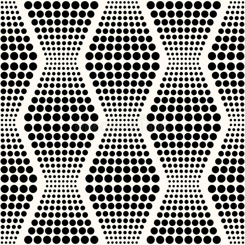 无缝的抽象几何小点背景 向量例证