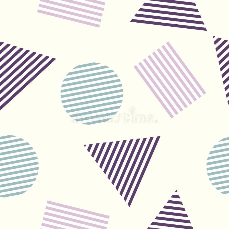 无缝的抽象几何样式,与三角和圈子 皇族释放例证