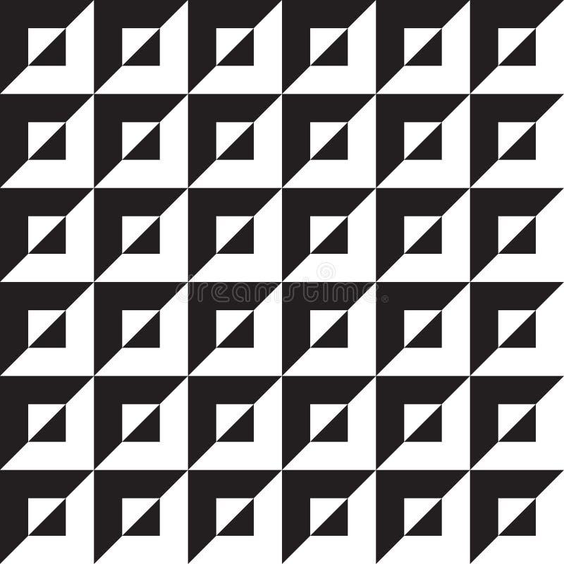 无缝的抽象几何欧普艺术样式背景 库存例证