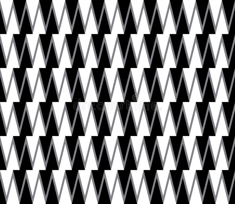 无缝的抽象几何装饰背景 库存例证
