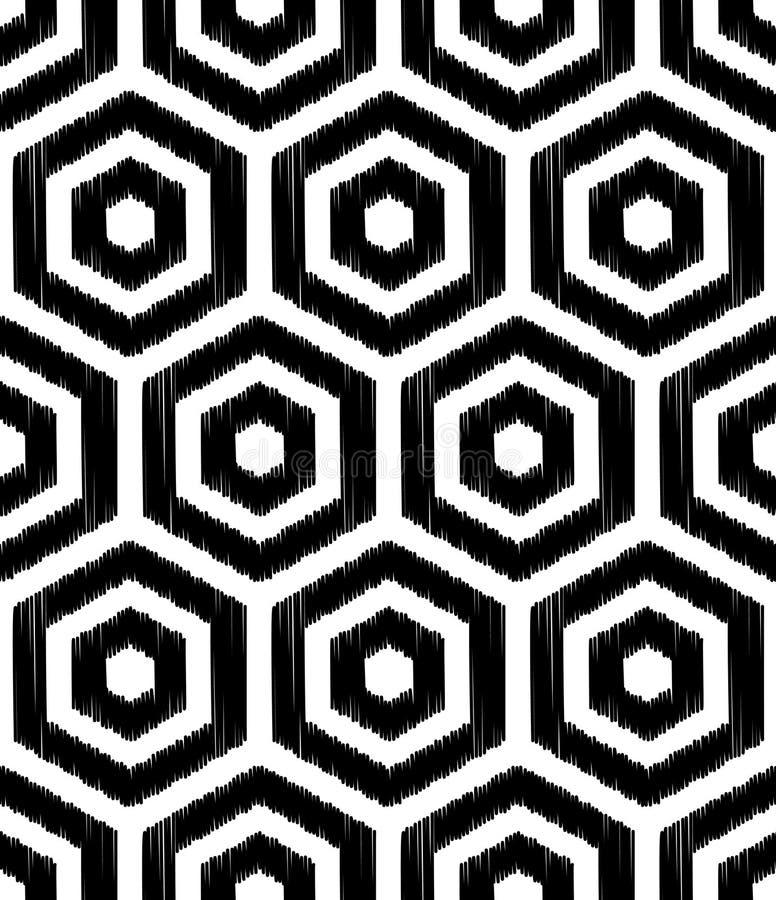 无缝的抽象几何滤网样式 库存例证