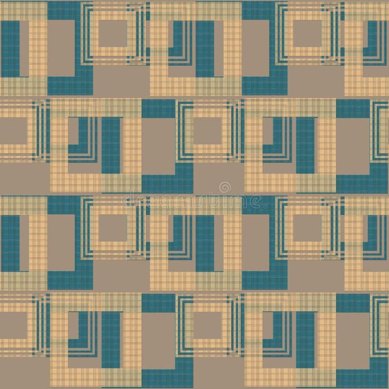 无缝的抽象样式减速火箭的装饰品几何背景 库存例证