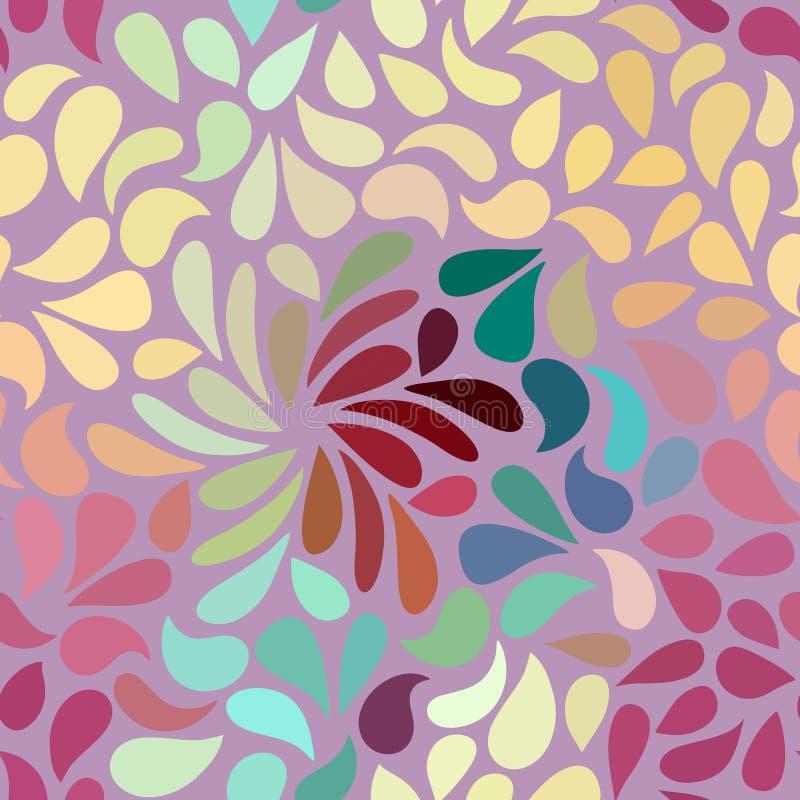 无缝的抽象花卉样式 皇族释放例证