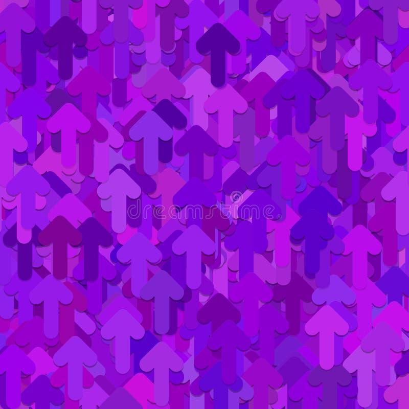 无缝的抽象任意箭头样式背景-从紫色的向量图形设计环绕了向前箭头 向量例证