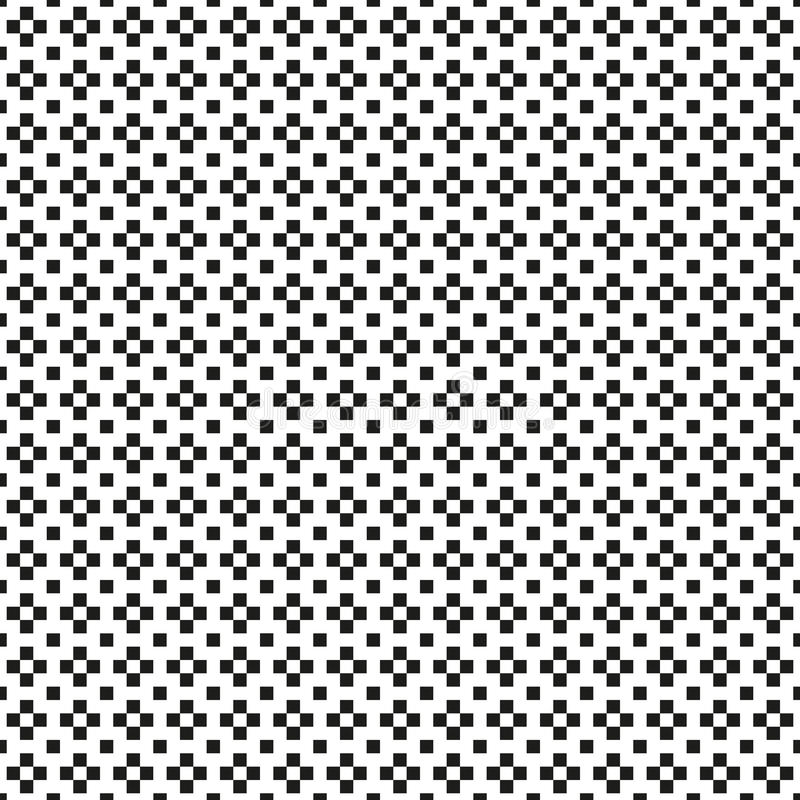无缝的抽象黑白照片加上或与丢失的发怒样式 向量例证