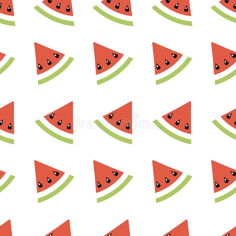 无缝的摘要样式几何例证用瓜、夏天墙纸织物印刷的或背景,横幅 向量例证