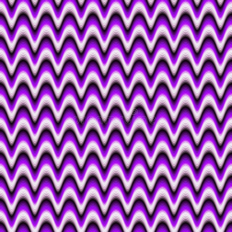 无缝的摘要紫色波浪背景或纹理 皇族释放例证