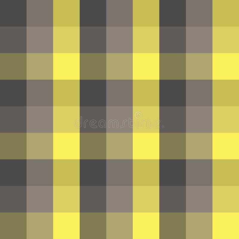 无缝的方格的格子花呢披肩传染媒介样式几何背景五颜六色的马赛克设计由铺磁砖的正方形经典葡萄酒减速火箭的ar制成 向量例证
