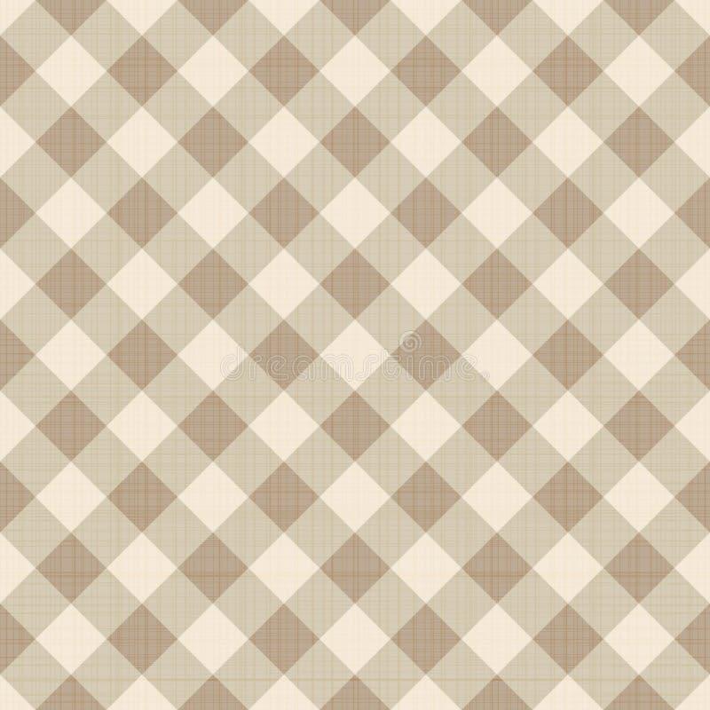 无缝的方格的背景 库存例证