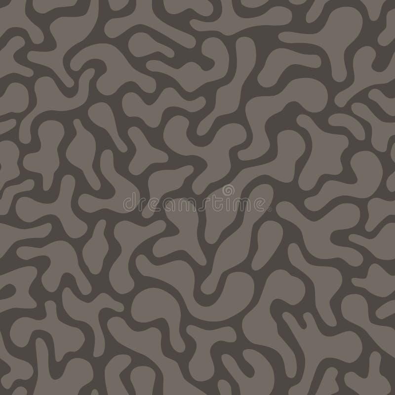 无缝的无定形的样式 向量例证