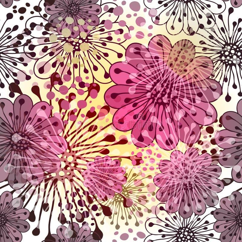 无缝的春天花卉模式 向量例证