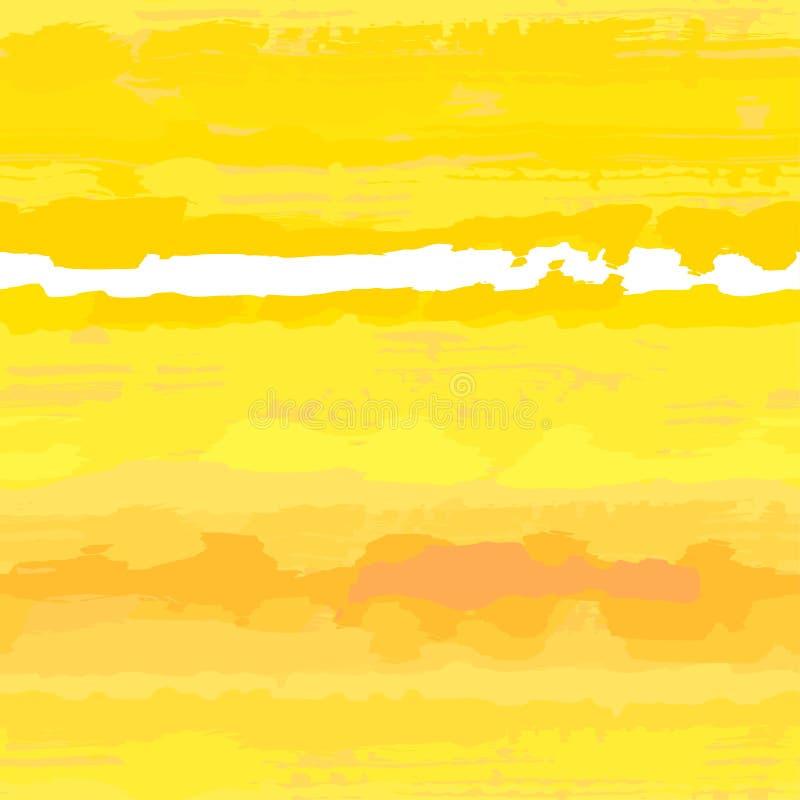 无缝的晴朗的纹理向量黄色 皇族释放例证