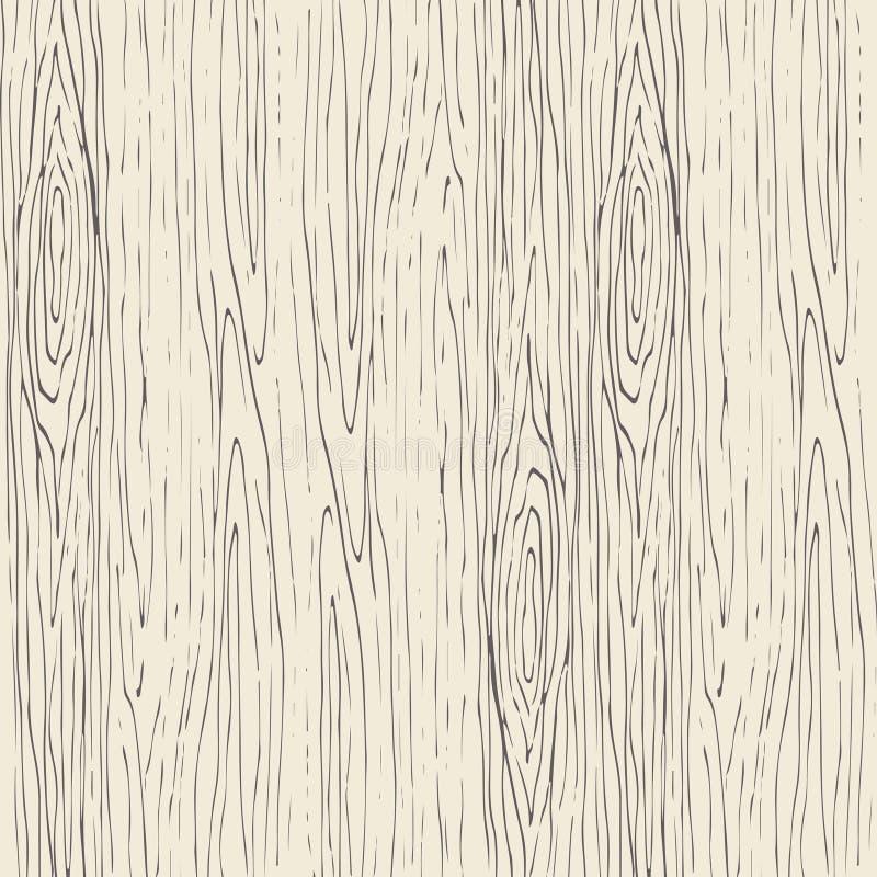 无缝的木五谷样式 木纹理传染媒介背景 库存例证