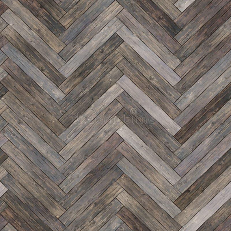 无缝的木木条地板纹理人字形中性 免版税库存图片