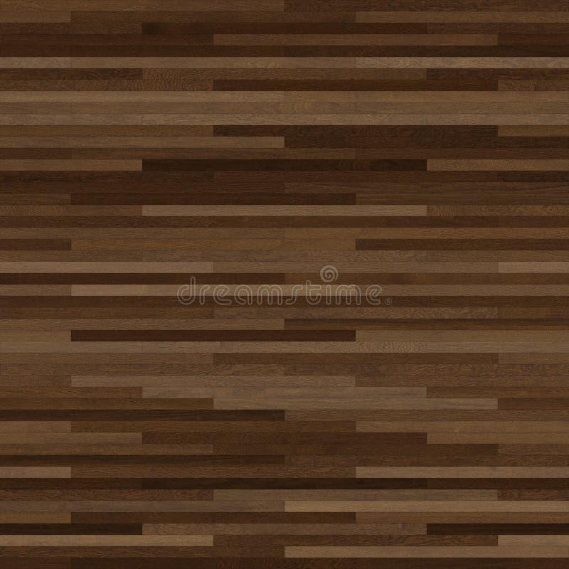 无缝的木木条地板纹理稀薄的线性黑褐色 皇族释放例证
