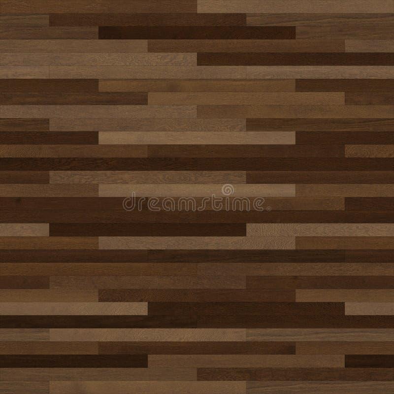 无缝的木木条地板纹理稀薄的线性黑褐色 库存例证