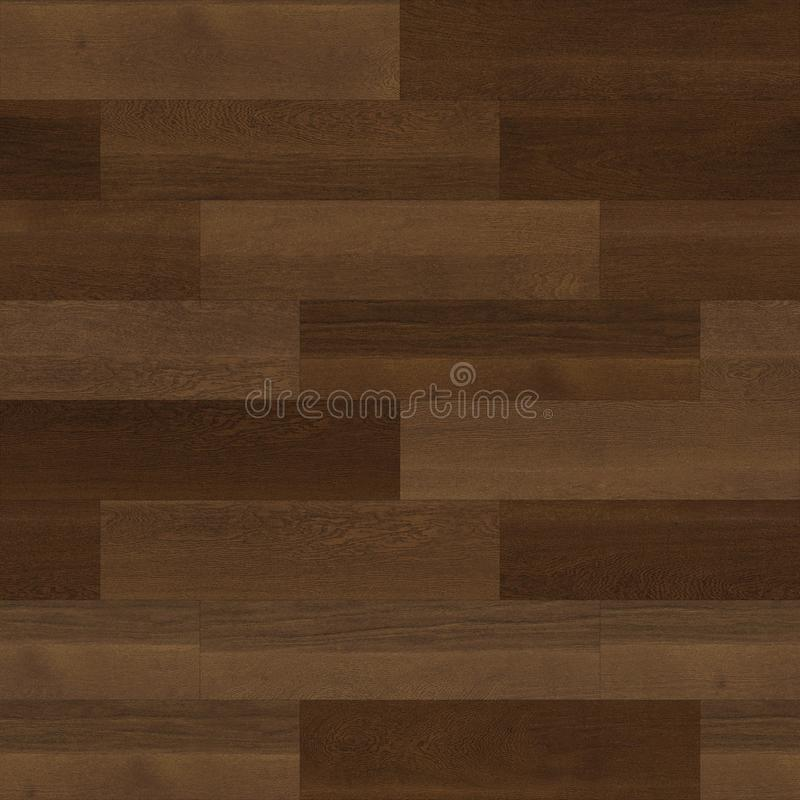 无缝的木木条地板纹理线性褐色 库存例证