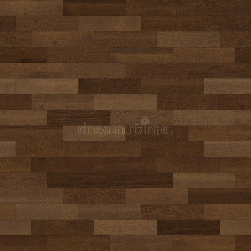 无缝的木木条地板纹理线性褐色 向量例证