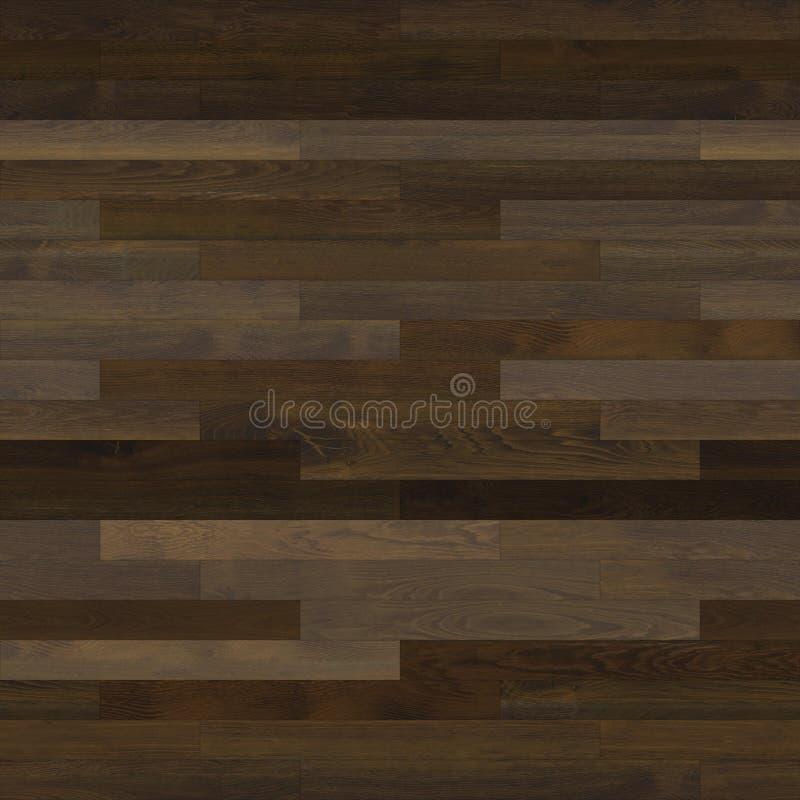 无缝的木木条地板纹理线性黑褐色 向量例证