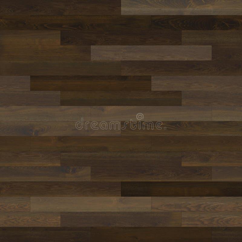 无缝的木木条地板纹理线性黑褐色 皇族释放例证