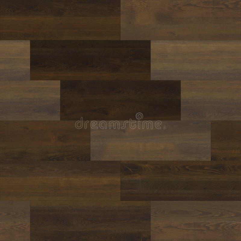 无缝的木木条地板纹理线性黑褐色 库存例证