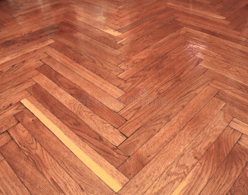 无缝的木木条地板纹理,浅褐色的V形臂章 图库摄影