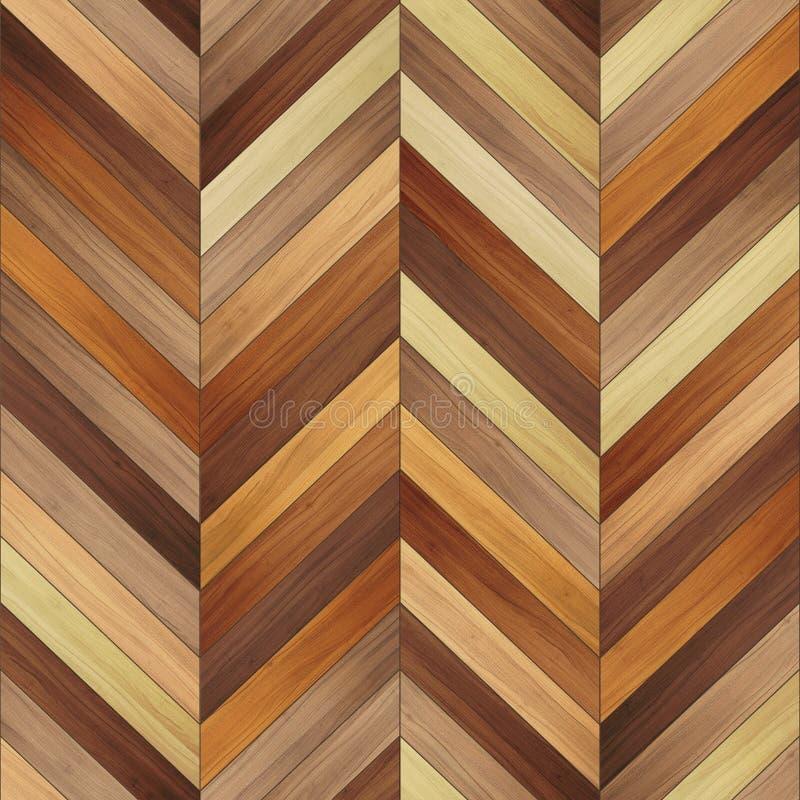 无缝的木木条地板纹理V形臂章夹子艺术 库存图片