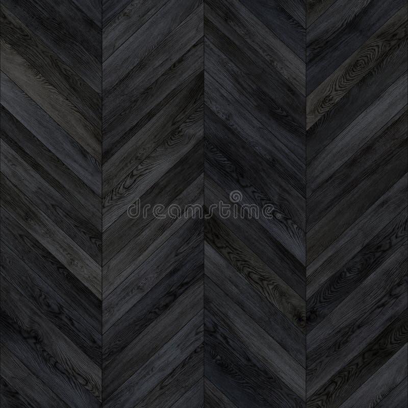 无缝的木木条地板纹理V形臂章黑暗 免版税库存照片