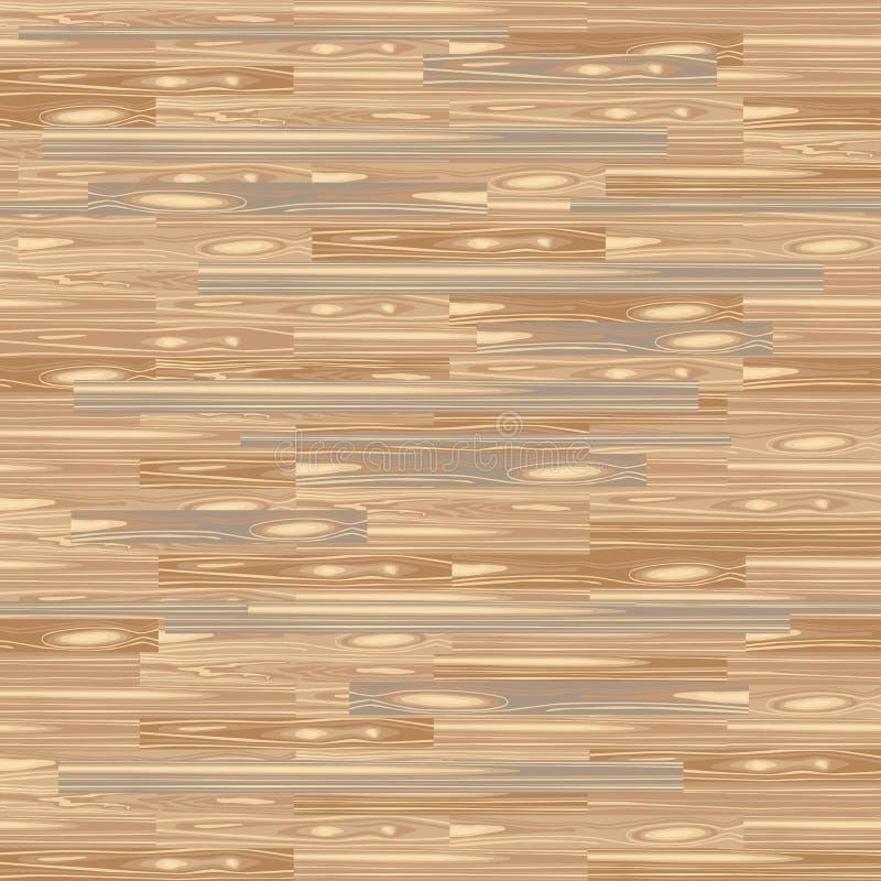 无缝的木条地板地板 镶花木细工纹理 楼层背景 传染媒介木头样式 与板条的层压制品您的室内设计的 皇族释放例证
