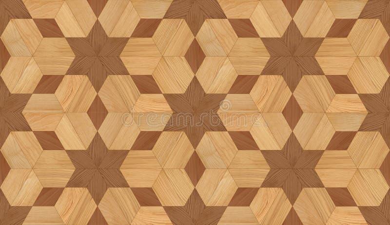 无缝的木条地板纹理 皇族释放例证