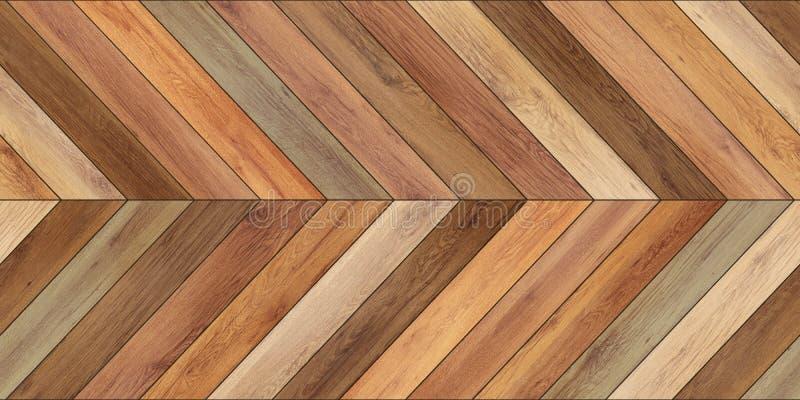 无缝的木浅褐色木条地板纹理水平的V形臂章 库存照片