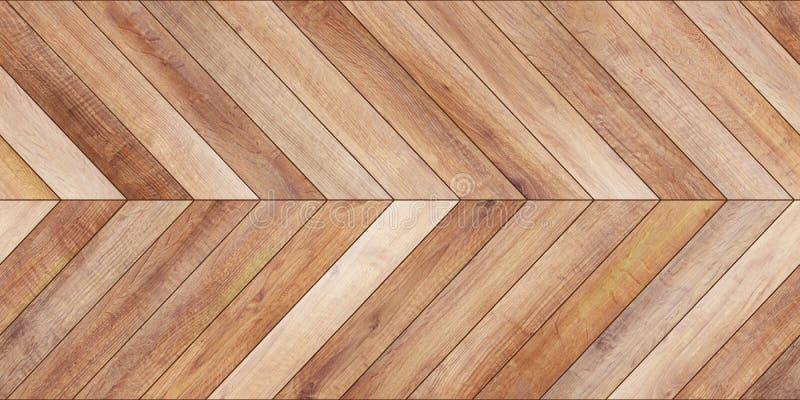 无缝的木浅褐色木条地板纹理水平的V形臂章 库存图片