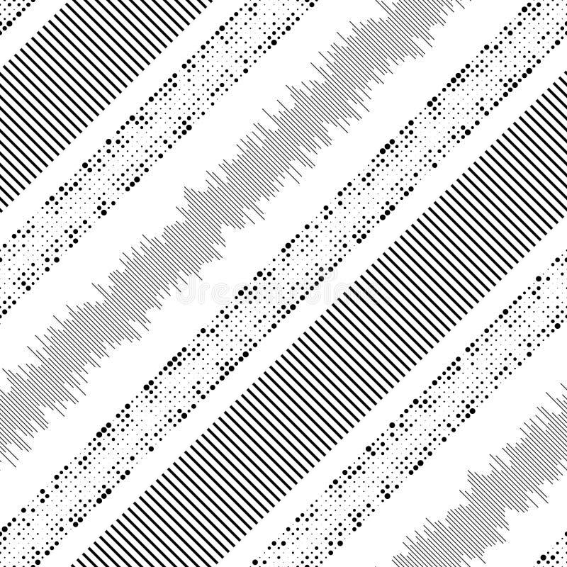 无缝的条纹和线样式 库存例证