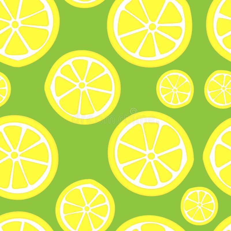 无缝的柠檬 库存例证