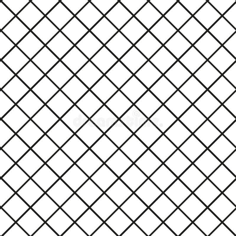 无缝的栅格,滤网样式 毫米,座标图纸背景 被摆正的纹理 皇族释放例证