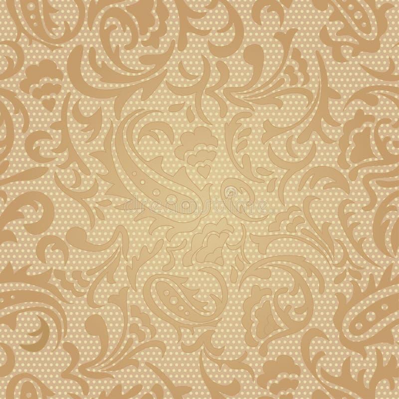 无缝的样式。佩兹利五颜六色的背景。 向量例证
