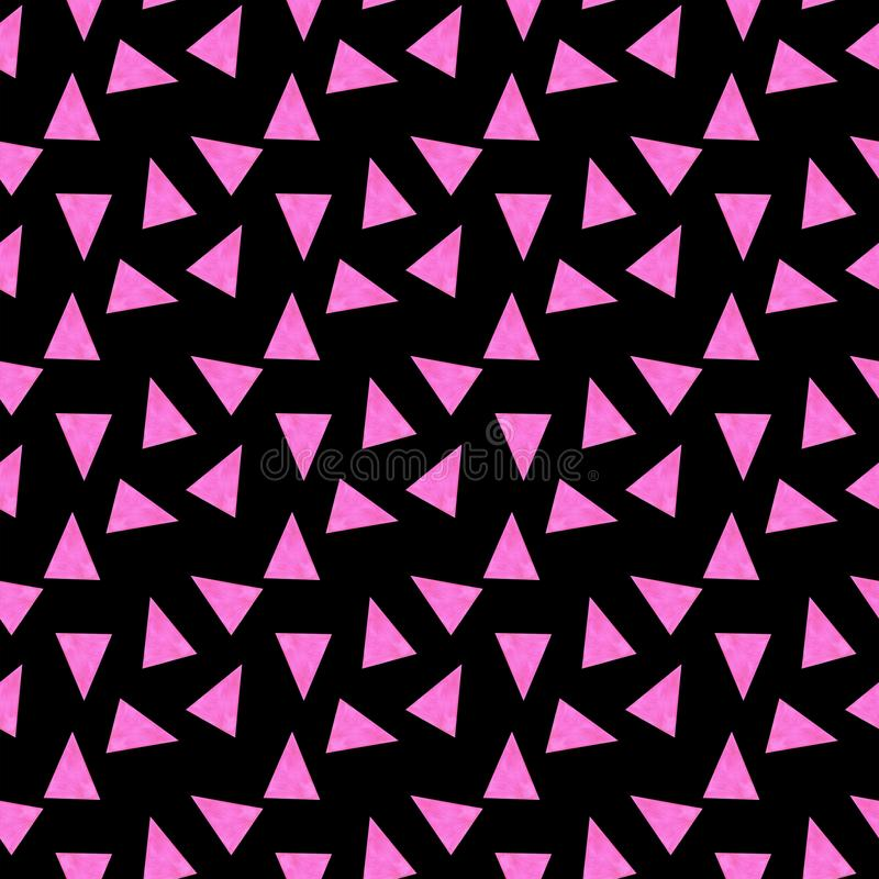 无缝的样式三角抽象样式水彩例证背景纹理数字纸纺织品在w贴墙纸 免版税库存照片