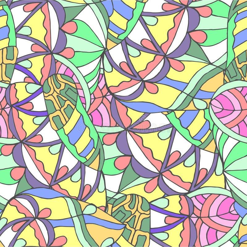 无缝的样式和的线抽象背景  向量例证