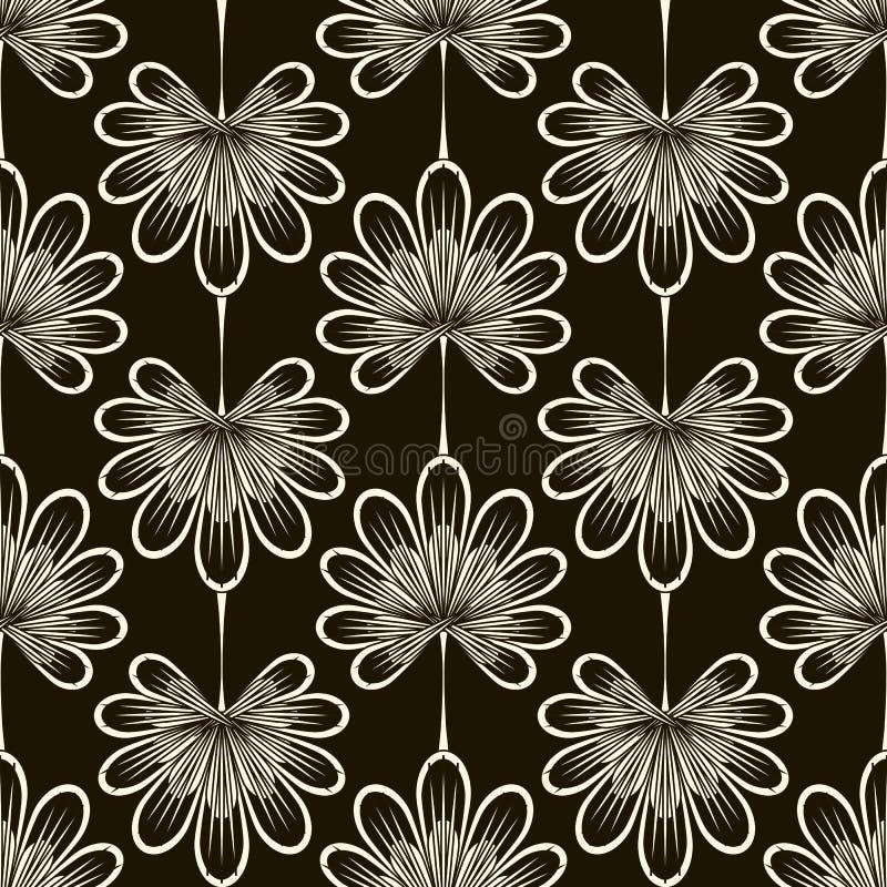 无缝的样式图表装饰品 花卉时髦的背景 再 向量例证