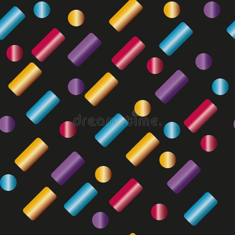 无缝的样式多彩多姿的胶囊,棍子 向量例证