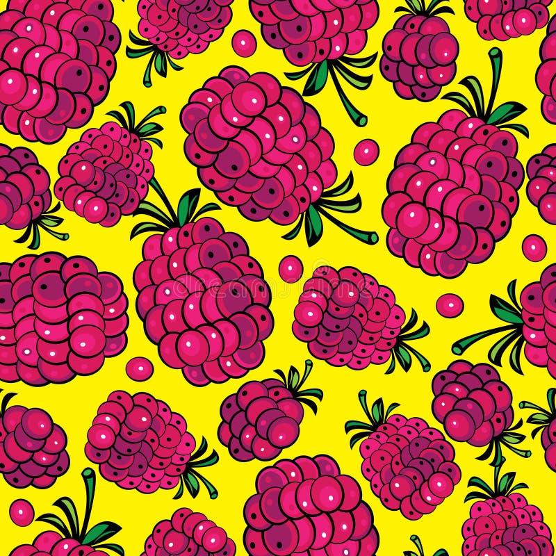 无缝的样式多色莓  向量例证
